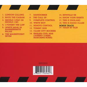 the clash - the singles (Back)