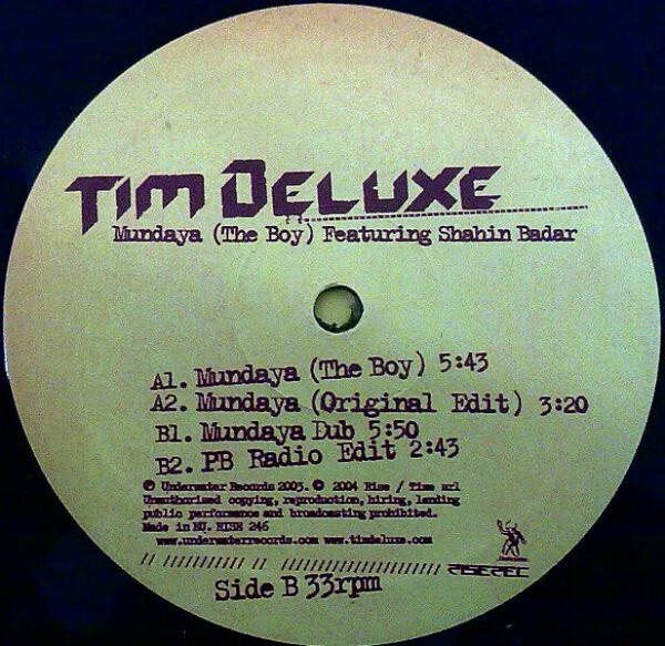 tim deluxe ft. shahin badar - mundaya (the boy) [soon back] (Back)