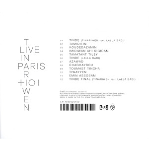 tinariwen - live in paris,oukis n'asuf (Back)