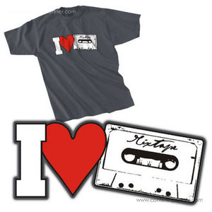 t-shirt, size m - i love mixtape, graphit