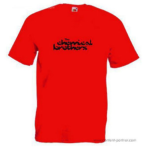 t-shirt - chemical brothers, red, medium