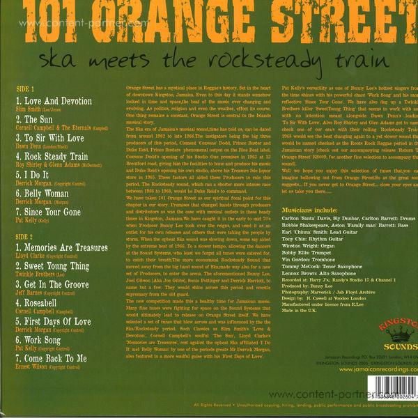 various - 101 orange street (Back)