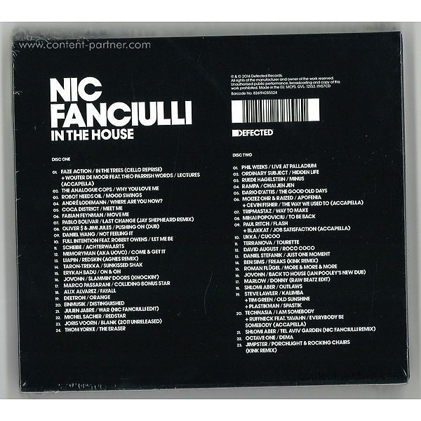 various - Nic Fanciulli ?– In The House (Back)