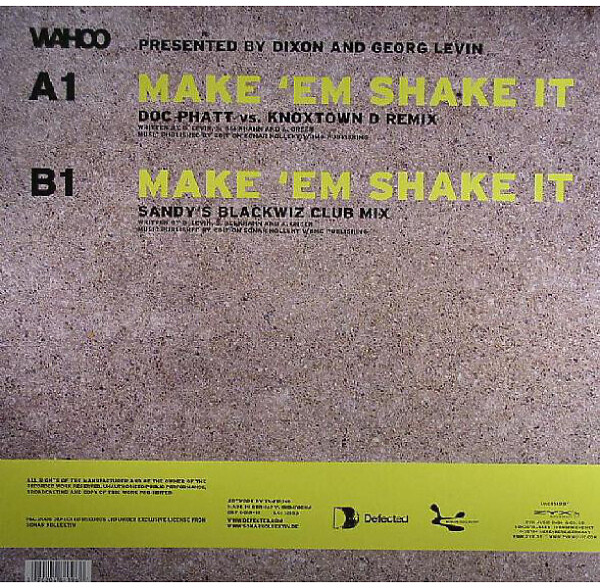 wahoo - make 'em shake it (german remix) (Back)