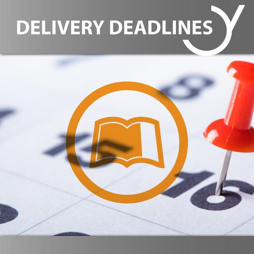 Delivery Deadlines eBooks, Audiobooks, Radio Plays