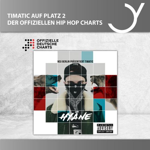 Neueinstieg auf Platz 2 der Hip Hop Charts