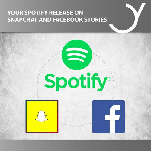 Dein Spotify Release auf Snapchat und Facebook Stories