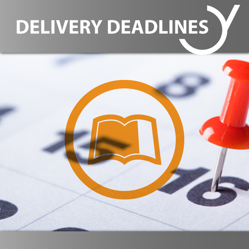 Delivery Deadlines eBooks, Audiobooks, Radio Plays