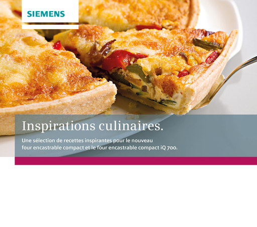 BSH Hausgeräte GmbH - BSH Hausgeräte GmbH - Inspirations culinaires