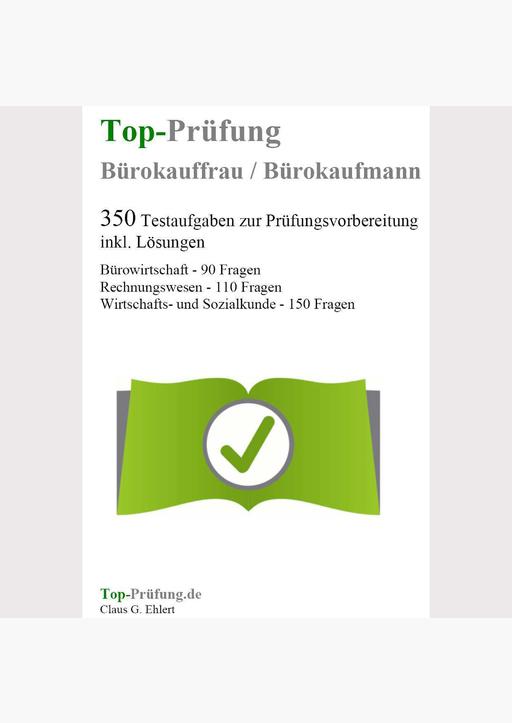Ehlert, Claus-Günter - Top-Prüfung Bürokauffrau / Bürokaufmann