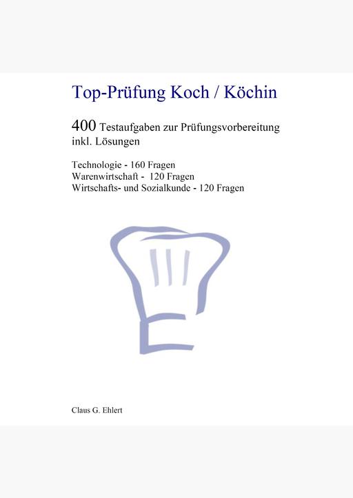 Ehlert, Claus-Günter - Top Prüfung Koch / Köchin