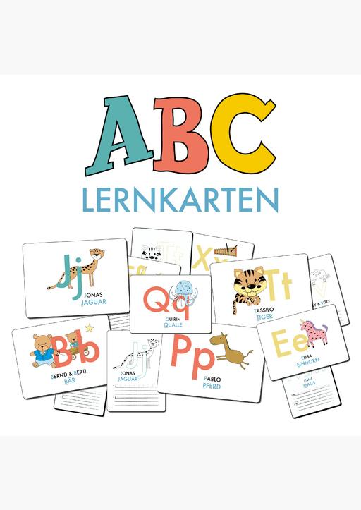 Lisa Wirth - ABC-Lernkarten - DIN A6-Format