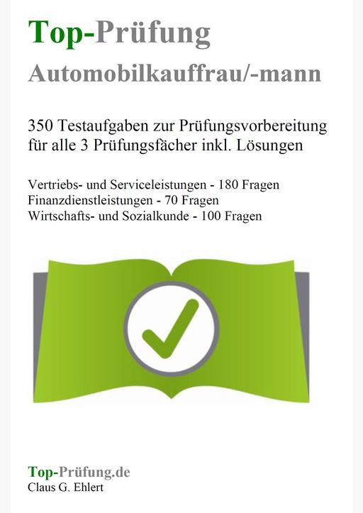 Ehlert, Claus-Günter - Top-Prüfung Automobilkaufmann