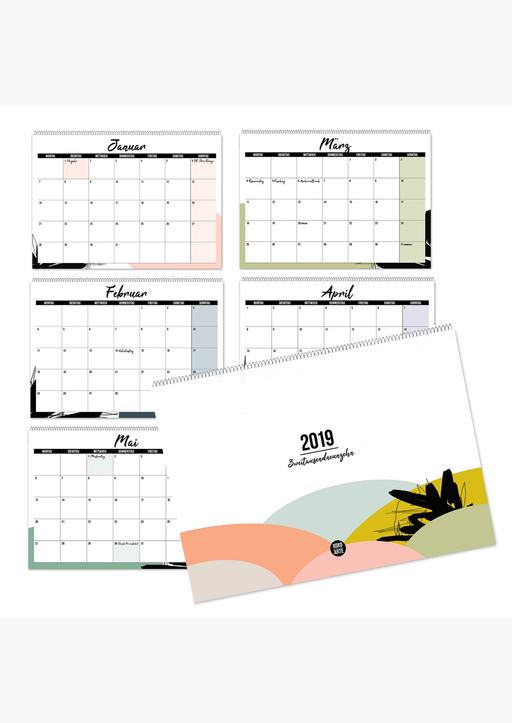 XOXO Arte; Garschhammer, Anja - Mehrseitiger Design Wandkalender A4 quer (2019)