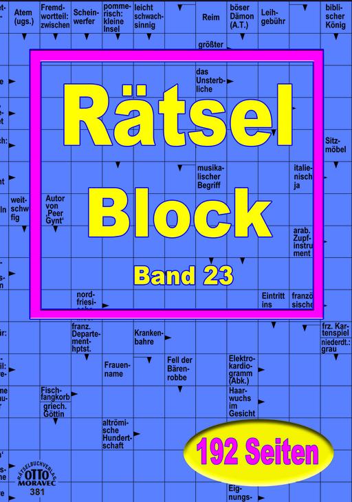Bilderbuchverlag Otto Moravec - Bilderbuchverlag Otto Moravec - XL-Rätsel-Block in grosser Schrift