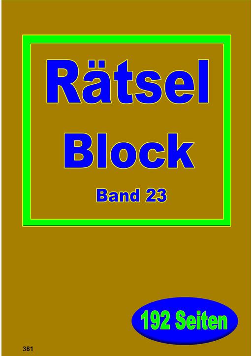 Bilderbuchverlag Otto Moravec - XL-Rätsel-Block in grosser Schrift