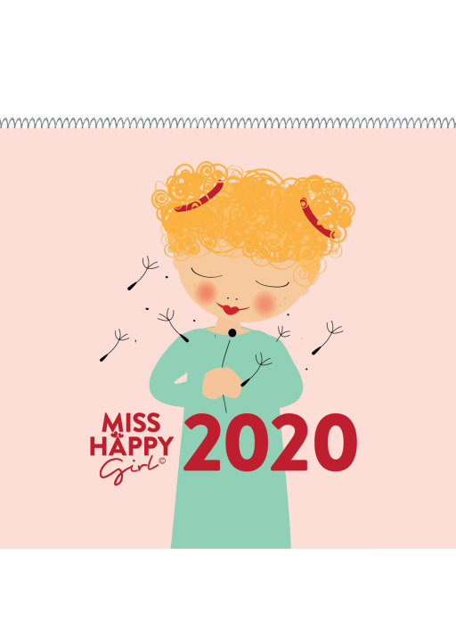 "XOXO Arte; Garschhammer, Anja - ""Miss Happy Girl"" Wandkalender A4"