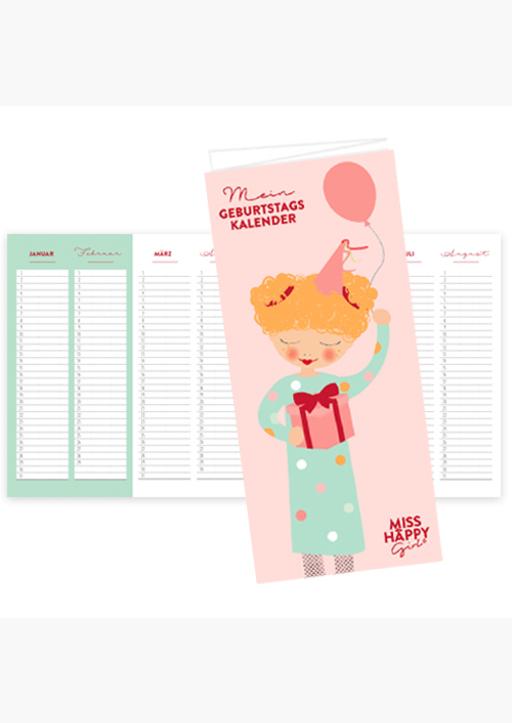 "XOXO Arte; Garschhammer, Anja - ""Miss Happy Girl"" Geburtstagskalender"