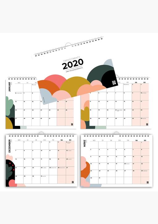 XOXO Arte; Garschhammer, Anja - Mehrseitiger Design Wandkalender A4 quer (2020)