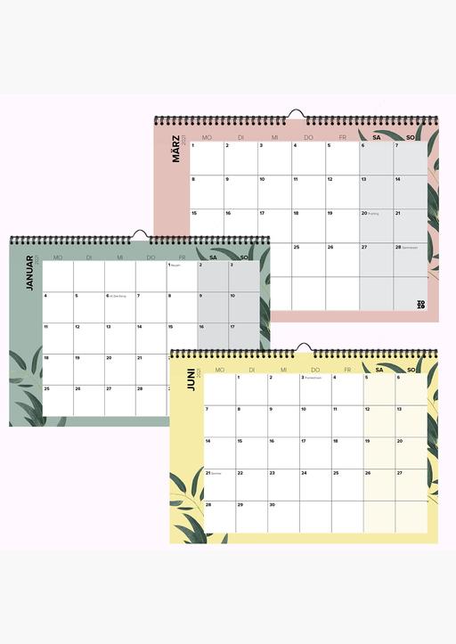 XOXO Arte; Garschhammer, Anja - Mehrseitiger Design Wandkalender 2021
