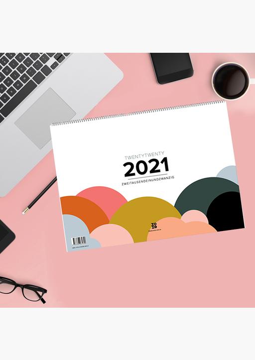 XOXO Arte; Garschhammer, Anja - Design Wandkalender A4 quer (2021)