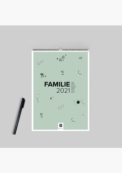 XOXO Arte; Garschhammer, Anja - Design Familienwandkalender A3 Hochformat (2021)