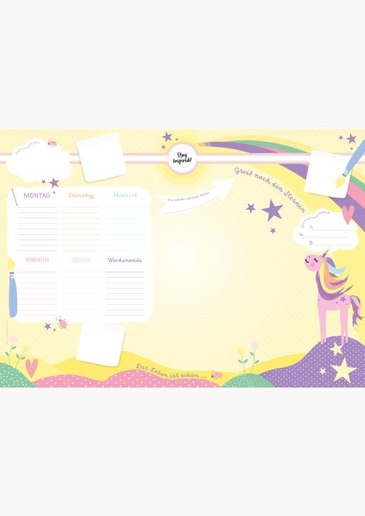 Lisa Wirth - Schreibtischunterlage Kinder aus Papier in Gelb