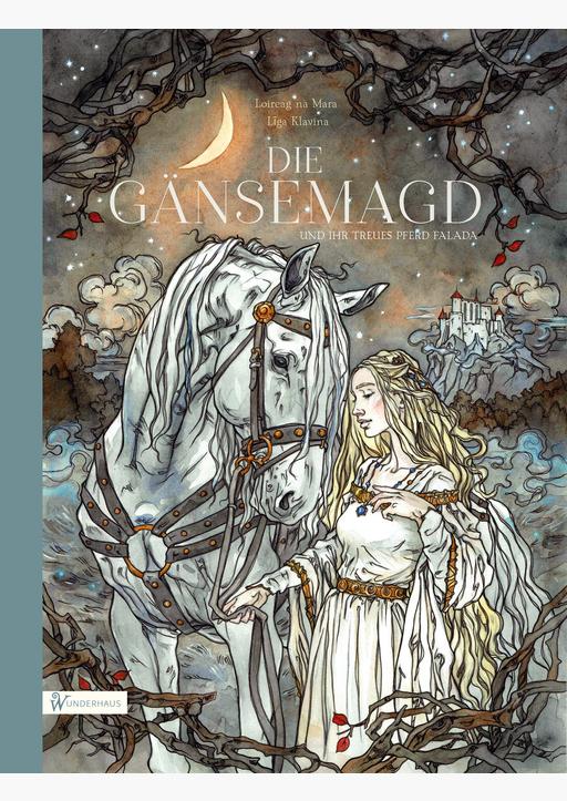 Grimm, Brüder / na Mara, Loireag - Die Gänsemagd und ihr treues Pferd Falada